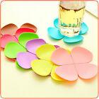 3D View Flower Petal Shape Teacup Coasters Tea Coffee Cup Mug Mats Placemat SC