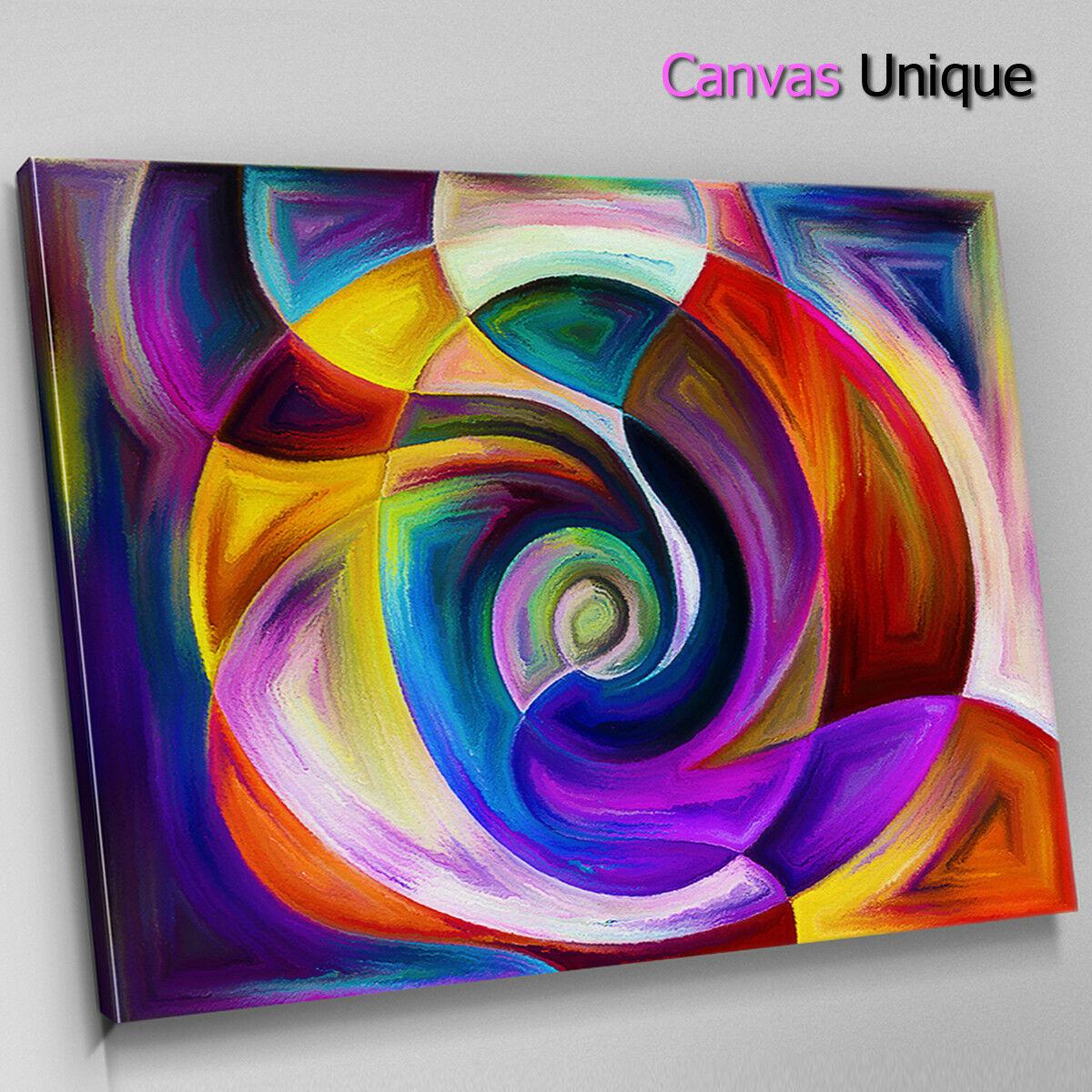 AB1403 lila Gelb Paint modern Abstract Wall Art Picture Large Canvas Print