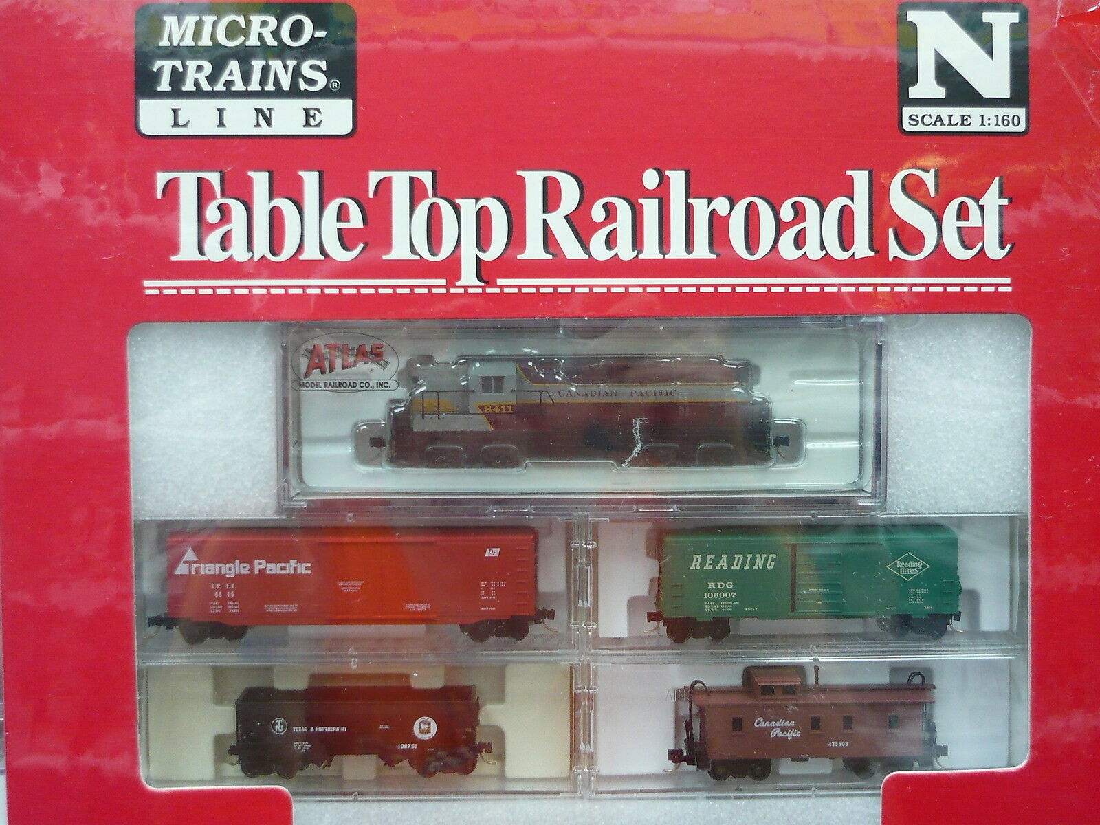 Canadian Pacific Atlas RS-3 N Scale Micro-Trains Table Top Set NIB