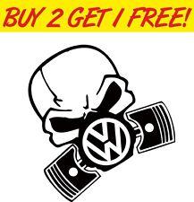 VW PISTON GASKMASK Vinyl Sticker Joke Fun Funny decal Euro JDM Toolbox PC Laptop