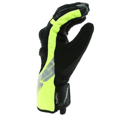 pro moto jaune Spidi respirant noir en Wp cuir Gants imperméable Alu ERUCq4