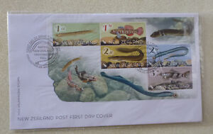2017-NEW-ZEALAND-FISH-SET-OF-5-STAMPS-MINI-SHEET-FDC-FIRST-DAY-COVER