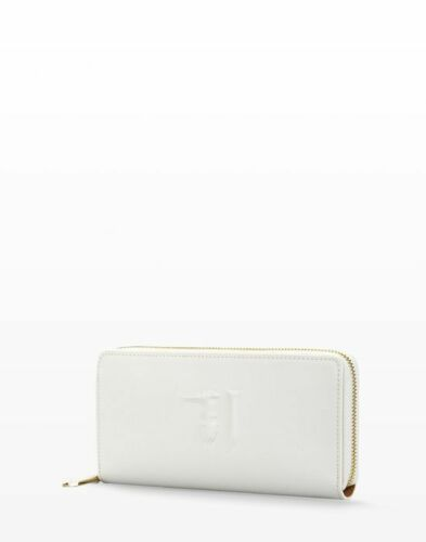 Femme En Logo Relief Art Trussardi Blanc Portefeuille Avec 75p551 Jeans Couleur ZikPuX