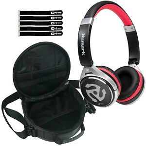 Numark HF150 Pro Bass Boost On-Ear DJ Style Monitoring Studio Headphone w Case
