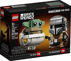 LEGO BrickHeadz Star Wars The Mandalorian & the Child 75317 [Building Kit] NEW