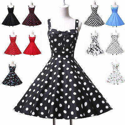 Vintage Hepburn Style Rockabilly Swing 50's pinup Housewife Formal Evening Dress