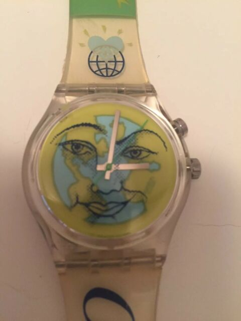 SWATCH Uhr 1996 Olympic Games Heart On Earth GK 900 Limited Edition