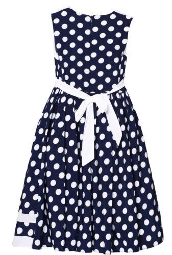Kinder Festkleid Mädchen Gepunktet Sommer Blumenmädchen Hochzeit Party Kleid