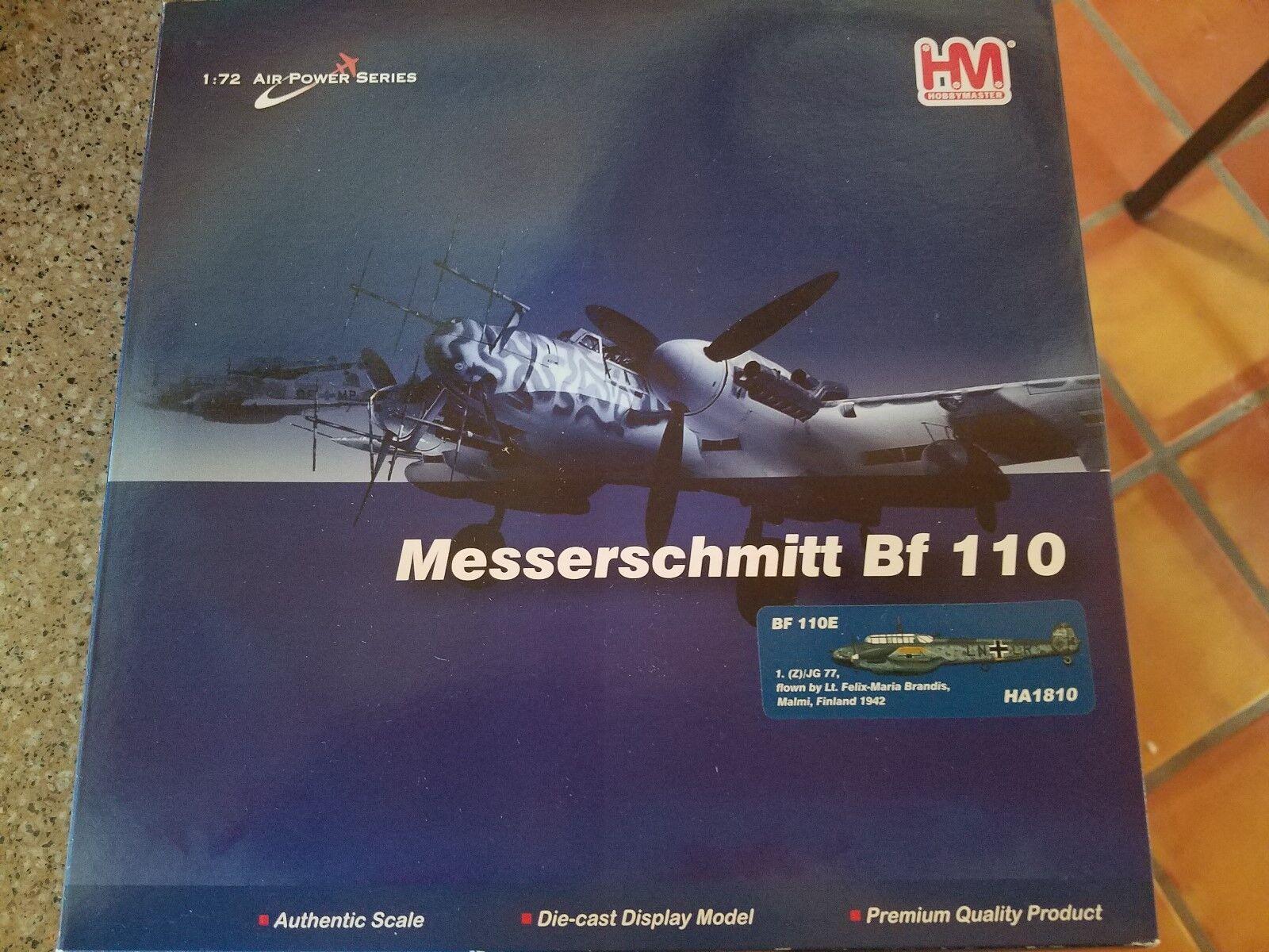 Hobby Master 1/72 aire potencia serie HA1810 Bf 110E 1. (Z)/JG 77 Lt. Felix-Maria