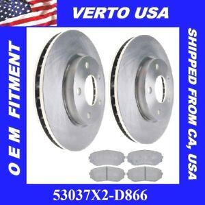 2007 Fit Dodge Caliber OE Replacement Rotors Ceramic Pads F See Desc.