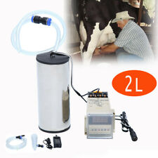 2l Electric Milking Machine Set Vacuum Impulse Pump Goat Sheep Cow Milker