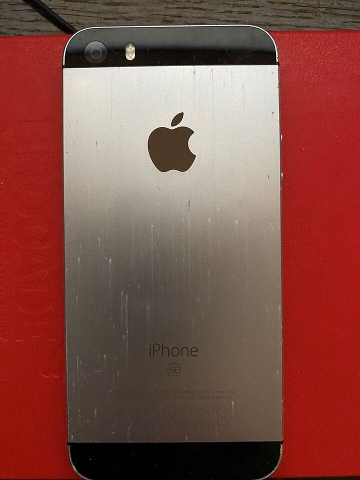 iPhone SE, 64 GB, grå