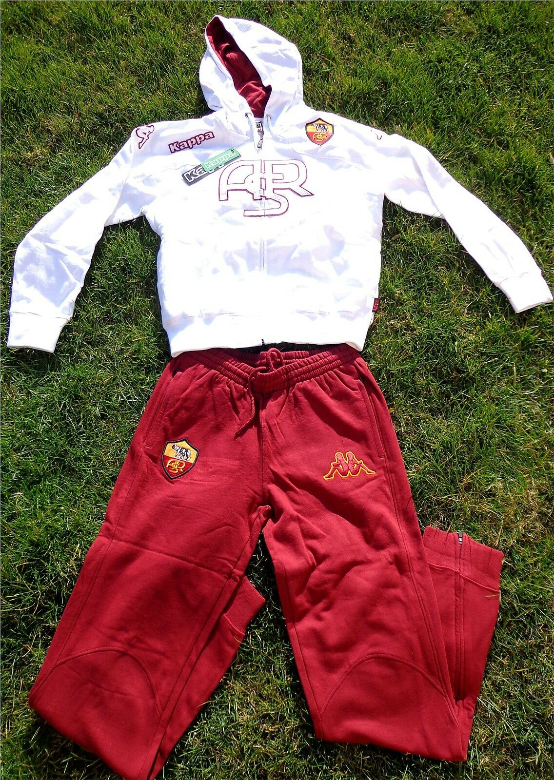 AS ROM Trainingsanzug Trainingsanzug Trainingsanzug Hoodie KAPPA Herren NEU Fan + Roma Totti  Italia a16657