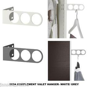 Détails Sur Ikea Komplement Valet Cintre à L Arrêt Pour Wardrobes Blancgris Buy More