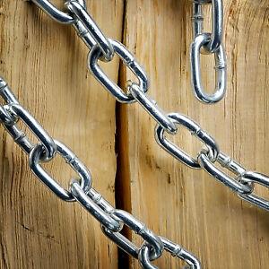 Stahlkette verzinkt 2-6mm kurzgliedrig langgliedrig Rundstahlkette Eisenkette
