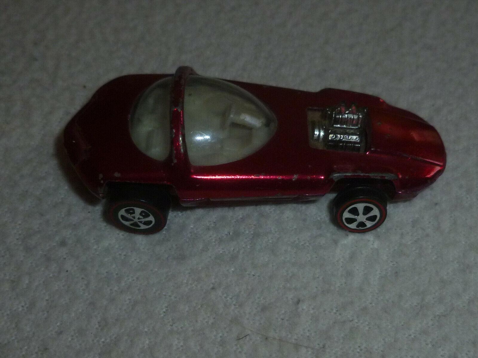 Vintage HOTWHEELS rougeline Silhouette 1968 Metallic rouge Line Hot Wheel Original