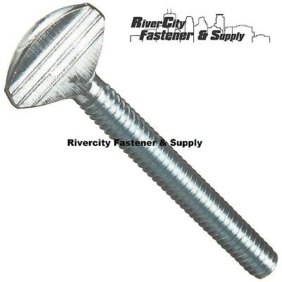 Flanged Spade-Head Thumb Screw Thread Size 1//4-20 Steel