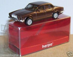 MICRO-HERPA-HO-1-86-1-87-JAGUAR-XJ-6-12-MARRoN-OSCURO-METAL-en-BOX