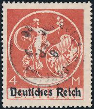 DR 1920, MiNr. 135 II, gestempelt, Kurzbefund Weinbuch, Mi. 260,-