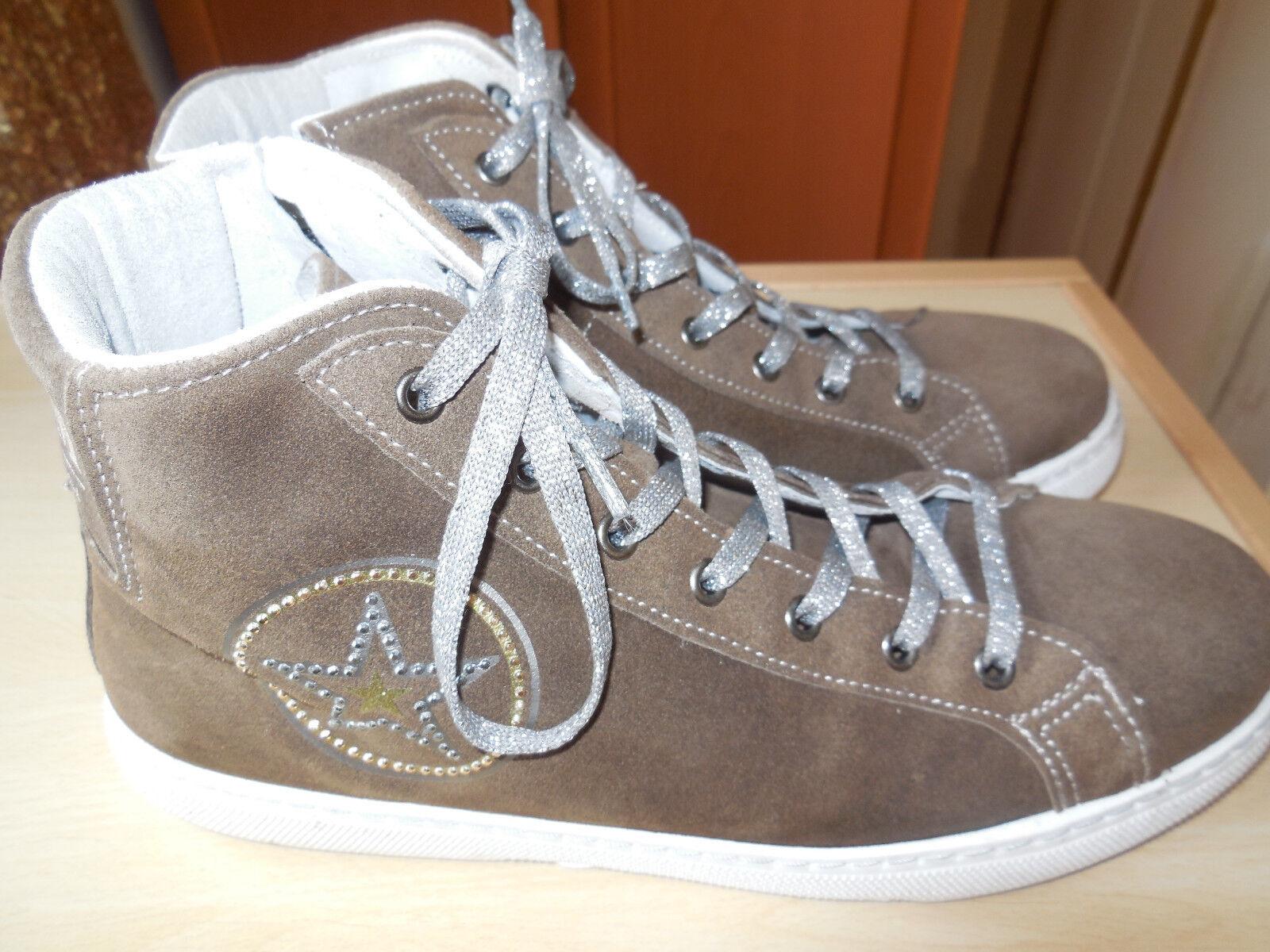 Thomas Rath Sneaker Grösse 41, 41, 41, taupe, Velourleder, RV, Weite G, 1 x getragen d6ccaa