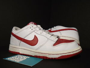 Women 2007 Nike Sb Dunk Low Valentine S Day White Varsity Red 309324