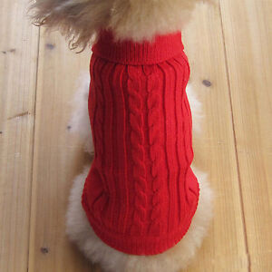 Dog-Pet-Clothes-Winter-Sweater-Knitwear-Puppy-Clothing-Warm-Size-XXS-XL