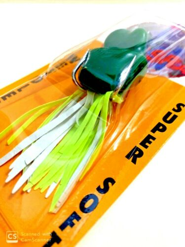 RARE Southern Lure BassRat Green Weedless Super Soft Lure #BR-501