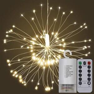 Fuegos-artificiales-LED-Luces-Cuerda-de-alambre-de-cobre-de-control-remoto-de-Hadas-Navidad