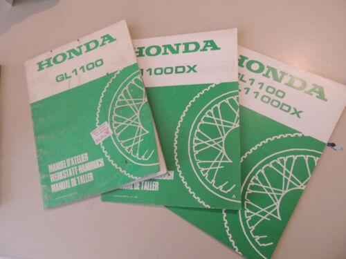 3 x Officina Manuale Honda gl1100 GOLDWING Manuel D /'ATELLIER manual de taller