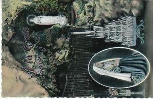 F Lourdes A la Grotte Benie, j'ai prié pour vous ... glum 1960? C7673