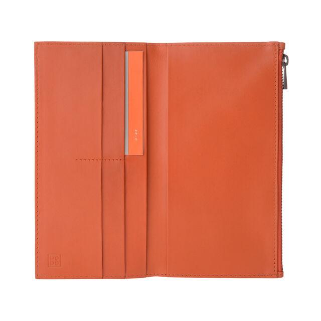 0fbda5285f DuDu Portafoglio uomo verticale grande in Vera Pelle Arancio con Zip porta  carte