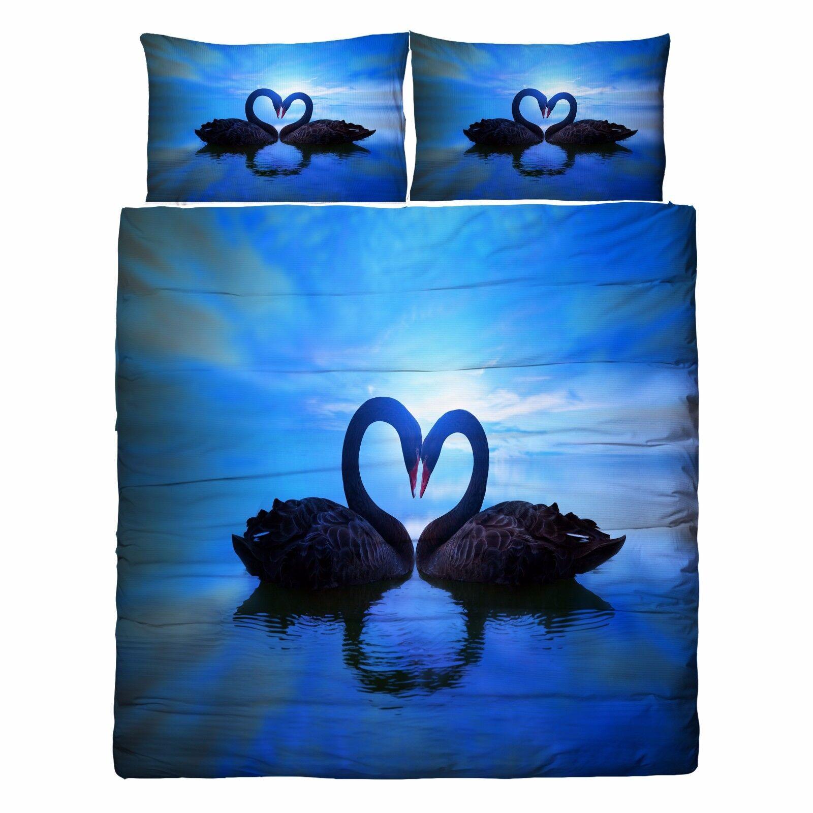 3D Sawn River 806 Bed Pillowcases Quilt Duvet Cover Set Single Queen UK Kyra