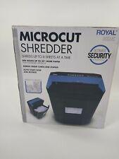 Royal Micro Cut Paper Shredder Heavy Duty 8 Sheet Micro Confetti Cut 805mc Used
