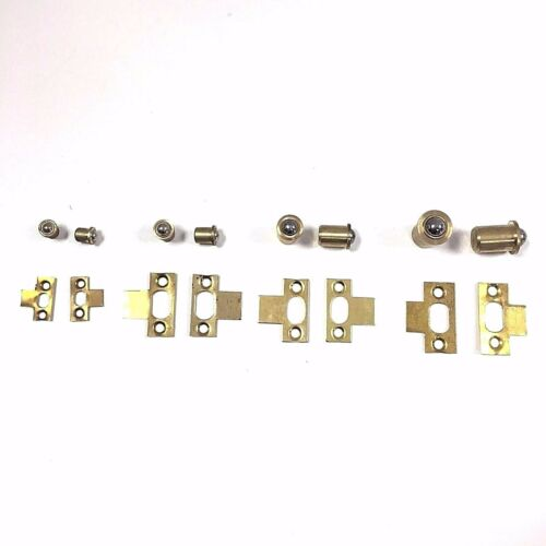 Cabinet Solid Brass Single Ball Catches -Cupboard Louvre Doors Wardrobe