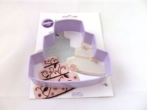 Image Is Loading WILTON WEDDING BIRTHDAY CAKE BREAD METAL COOKIE CUTTER