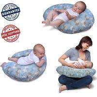 Boppy Pillow Slipcover Cover Classic Nursing Slip Support Baby Elephants Blue