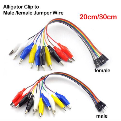 10pin Crocodile Alligator Clip to Male Female Jumper Wire Test Lead for Arduino
