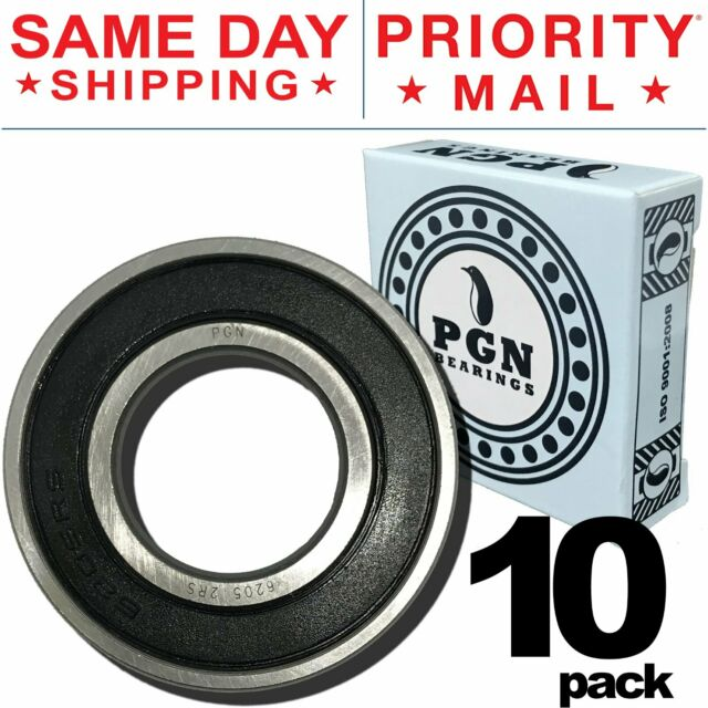 6205 2RS Ball Bearing 25x52x15 Sealed Premium Deep Groove 62052RS Qty 2