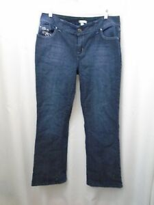 Fashion-Bug-Womens-Jeans-Stretch-Blue-Size-16W-36-Waist-30-Inseam
