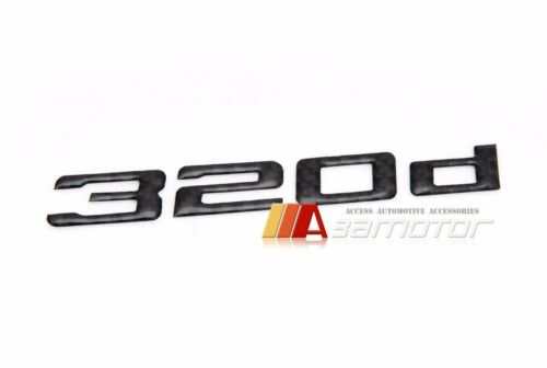 BMW E30 E36 E46 E90 F30 Rear Trunk Lid Emblem Badge Carbon Fiber Letters 320d