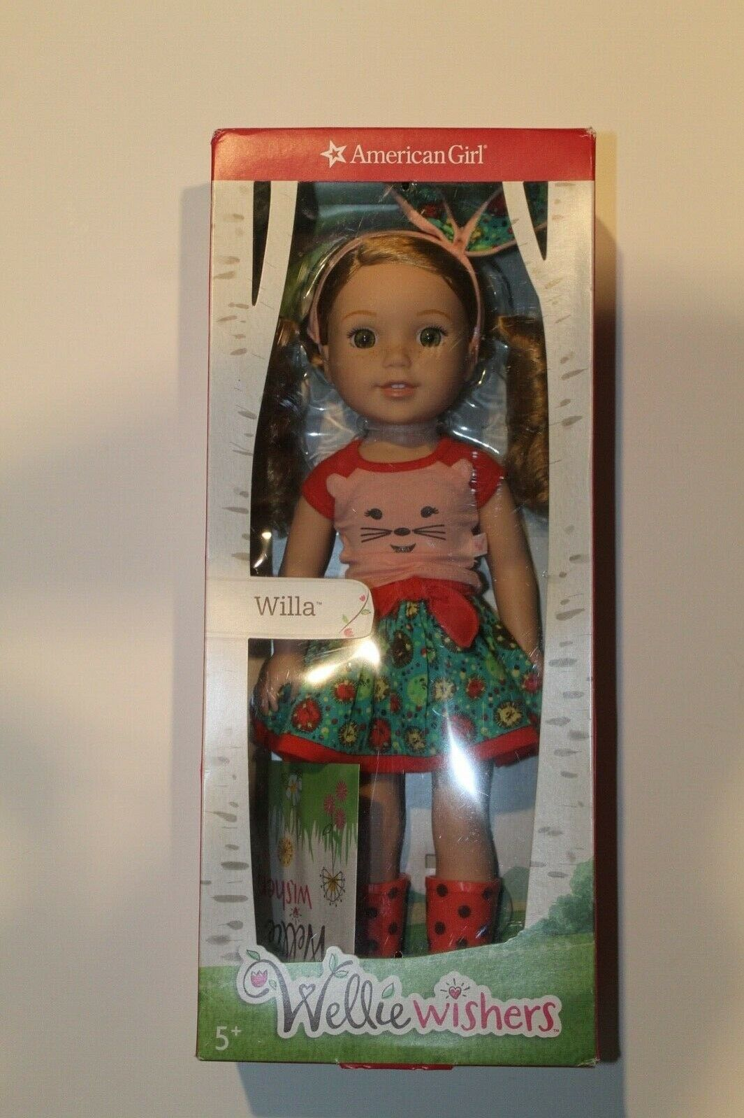 New American Girl Wellie Wishers Willa Doll NIB Authentic