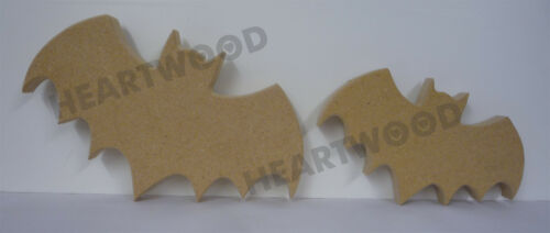 18mm thick HALLOWEEN BATS PAIR IN MDF //WOODEN CRAFT SHAPE//BLANK DECORATION