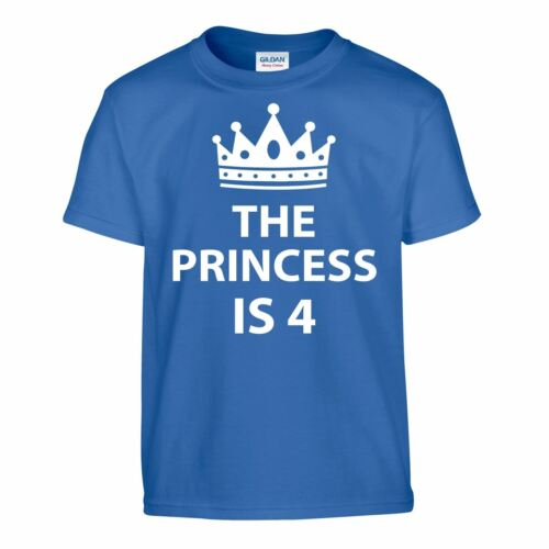 Princesse Disney 4th Anniversaire Enfants T-Shirt Cadeau Marrant Cadeau T Shirt Filles