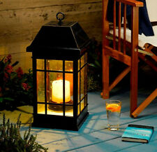 Decorative Solar Light Lantern Lamp Outdoor Garden Patio Yard Hanging Led Black