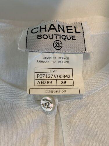 Chanel Boutique Size 38 White Sleeveless Cotton To