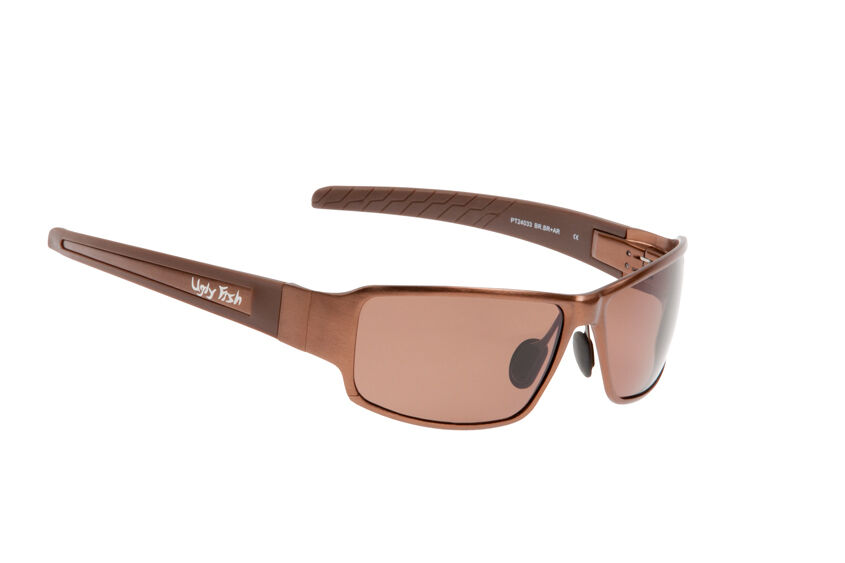 Ugly Fish Polarised Sunglasses PT24033 Bronze Frame With Brown Lens