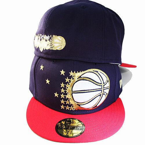 New Era NBA Orlando Magics Air 5950 Fitted Hat Nike Air Magics Jordan 7 Retro Gold Navy Red f1511c