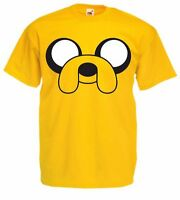 JAKE THE DOG Adventure Time Men's Yellow Fruit of the Loom TV cartoon T Shirt