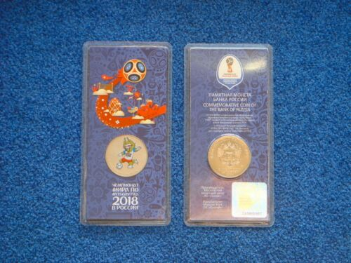 New 2018 FIFA World Cup Colored UNC Russia Talisman Wolf 25 rubles 2017