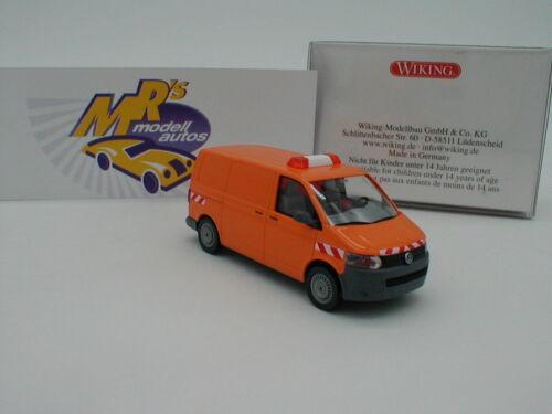 """Wiking 0309 07 VW T5 GP Kastenwagen Baujahr 2013 orange /"""" Kommunal /"""" 1:87 NEU"""